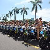 Cảnh sát huy động hàng trăm xe chuyên dụng phục vụ APEC