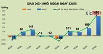 Phiên 22/5: Tăng mạnh tỷ trọng ROS và PLX, khối ngoại mua ròng đột biến 480 tỷ đồng
