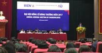 ĐHĐCĐ BIDV: Bộ Tài chính tiếp tục đề nghị trả 7% cổ tức năm 2016 bằng tiền mặt