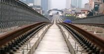 Đường ray tuyến Cát Linh - Hà Đông rỉ sét