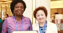 Chủ tịch tập đoàn BRG tiếp thân mật Bà Victoria Kwakwa – Phó chủ tịch Ngân hàng thế giới phụ trách khu vực Đông Á – Thái Bình Dương bên lề APEC 2017