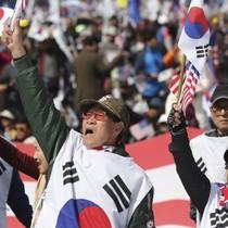Người ủng hộ cựu tổng thống Hàn Quốc biểu tình