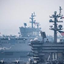 Chiến hạm Mỹ-Nhật thao dượt chung ở Biển Đông