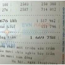 Choáng váng vì tiền điện tăng sốc