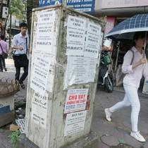 Quảng cáo rao vặt tín dụng đen bôi bẩn phố phường
