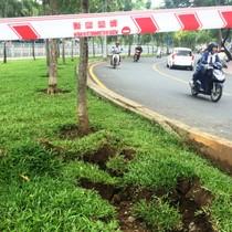 Đường nứt, đất đá xới tung sau 2 vụ nổ trên kênh Nhiêu Lộc – Thị Nghè