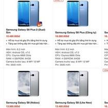 Samsung Galaxy S8 bán dưới giá, loạn giá