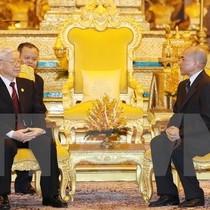 Tổng Bí thư Nguyễn Phú Trọng hội đàm với Quốc vương Campuchia