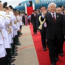 Tổng Bí thư bắt đầu chuyến thăm cấp Nhà nước Vương quốc Campuchia
