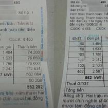 Khách hàng choáng váng vì tiền điện tăng gấp 4 lần