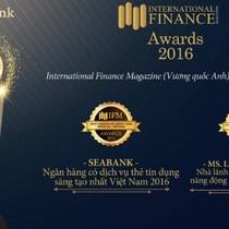 """SeABank được vinh danh giải thưởng """"Ngân hàng có dịch vụ thẻ tín dụng sáng tạo nhất"""""""