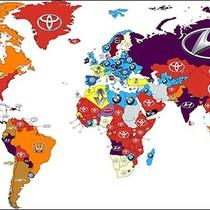 Bản đồ thương hiệu xe hơi được tìm kiếm nhiều nhất trên thế giới