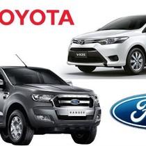 """[Infographic] """"So găng"""" lượng ô tô bán ra trong tháng của Kia - Mazda - Toyota - Ford"""