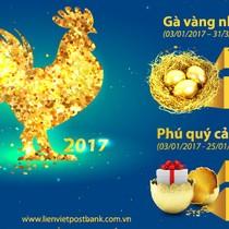 """LienVietPostBank tổ chức lễ quay số dự thưởng chương trình """"Gà vàng như ý - Phú quý cả năm"""""""