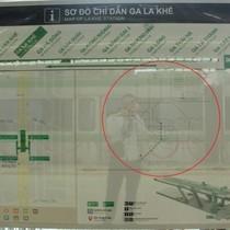 """Bản đồ nhà ga Cát Linh - Hà Đông """"chôm"""" của sinh viên?"""
