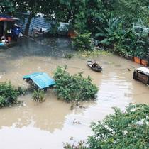 Bãi giữa sông Hồng biến thành ốc đảo sau những ngày mưa lớn, cuộc sống của người dân bị đảo lộn