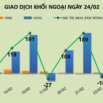 Phiên 24/2: Khối ngoại đua theo TDH sau tin cổ đông lớn bán ra