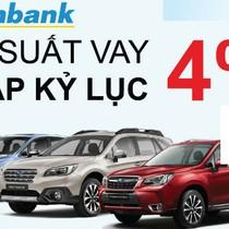 Vay tiền mua xe ô tô Sabaru lãi suất chỉ 4%/năm tại Sacombank
