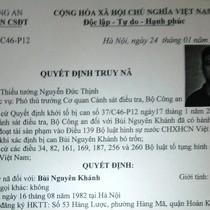 Phát lệnh truy nã Giám đốc Công ty Xuân Phát Bùi Nguyên Khánh