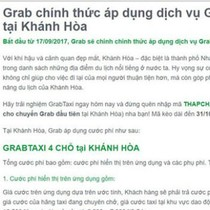 "Khánh Hòa ""cấm cửa"" Grab taxi"
