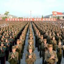 Quân đội Triều Tiên mít tinh ủng hộ Kim Jong-un chống Mỹ