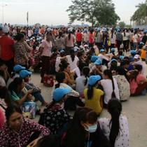Khoảng 8.000 công nhân ở Thanh Hóa đình công vì không có chỗ để xe