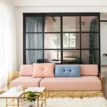 Tông màu hồng pastel cho căn hộ ngọt ngào