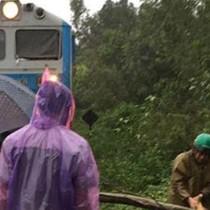 Đường sắt Bắc Nam tê liệt, hàng chục chuyến bay bị hủy do bão