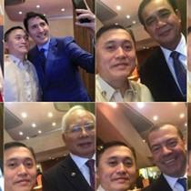 Trợ lý của ông Duterte selfie với loạt lãnh đạo dự hội nghị ASEAN