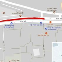 Đường Kim Mã thu hẹp còn 3m, cấm ôtô để thi công metro Hà Nội
