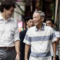 Nửa giờ dạo phố Sài Gòn của Thủ tướng Canada
