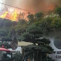 200 người dập đám cháy tại quán cà phê