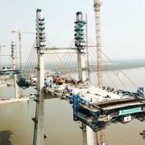 Trên công trường cây cầu hơn 7.000 tỷ nối Quảng Ninh và Hải Phòng