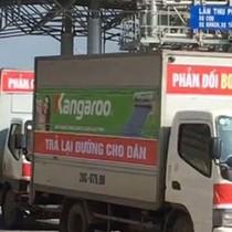 Dân đi ô tô thành đoàn phản đối BOT Bờ Đậu, Thái Nguyên