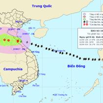 Từ 2h chiều nay, bão số 10 di chuyển sang Lào, suy yếu thành áp thấp nhiệt đới