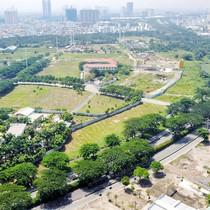Toàn cảnh khu đất rộng lớn tại khu Nam Sài Gòn của Hoàn Cầu Group vừa bị VAMC siết nợ