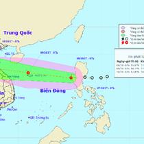 Áp thấp nhiệt đới hướng thẳng Nghệ An - Quảng Ngãi