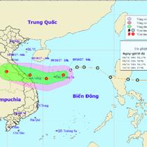 Chiều tối nay, áp thấp nhiệt đới sẽ về tới Quảng Bình - Đà Nẵng