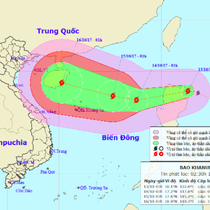 Đang lũ lụt, miền Trung lại sắp đối mặt với bão Khanun