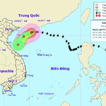 Bão số 11 đang giảm cấp, về đến Trung Bộ sẽ chỉ còn là áp thấp nhiệt đới