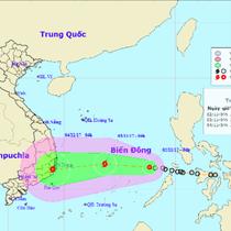 Áp thấp nhiệt đới có khả năng mạnh lên thành bão giật cấp 11