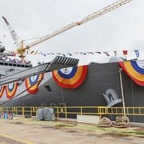 Hàn Quốc hạ thủy tàu đổ bộ 4.900 tấn