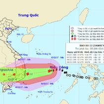 Áp thấp nhiệt đới mạnh lên thành bão số 12 đang tiến vào Nam Bộ