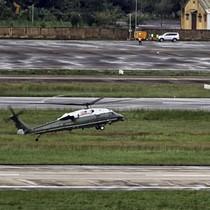 Trực thăng phục vụ Tổng thống Mỹ bay thử ở Đà Nẵng