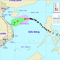 Bão số 13 suy yếu thành áp thấp nhiệt đới, có thể đổi hướng khi tiến sát đất liền