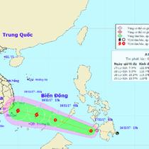 Xuất hiện áp thấp nhiệt đới ở phía Đông Philippines, có khả năng mạnh lên thành bão