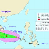 Vừa vào biển Đông, áp thấp nhiệt đới đã mạnh lên thành bão cấp 8, giật cấp 11