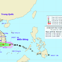 Tiến sát bờ, bão số 14 lại suy yếu thành áp thấp nhiệt đới
