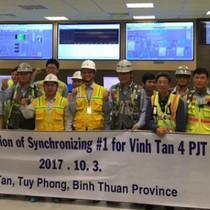 Tổ máy 2 nhiệt điện Vĩnh Tân 4 hoà lưới quốc gia
