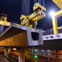 Tập đoàn Nam Cường đòi bãi đúc dầm đường sắt trên cao